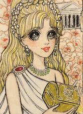 Aceo Original Painting Manga Greek Mythology Pandora's Box Oaak