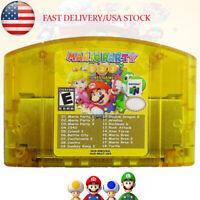 Mario Party 1 2 3 Nintendo 64 N64 + 15 Classic NES Games 18 in 1 Game Cartridge