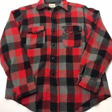 Vintage Melton 50s Wool WintermasterLong Sleeve Button Front Shirt Hunting Large