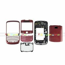 BRAND NEW FULL HOUSING COVER + FRAME + KEYPAD + LENS FOR BLACKBERRY 8520 #RED