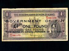 Fiji Islands:P-45c,1 Pound,1934(1947) * EMERGENCY * On New Zealand 1 Maori Chief