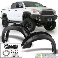 2007-2013 Toyota Tundra Bolt Rivet Pocket Wheel Fender Flares Texture Left+Right