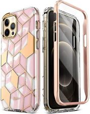 For iPhone 12 Pro Max Case,Hybrid Slim TPU Bumper Protective Cover Pink