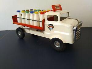 Vintage Tri-ang Junior Series Milk Lorry & 24 Milk Bottles + Original Box 1958