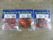 """New listing 3 Packages Kalin'S 3"""" Triple Threat Grubs - Walleye - Bass - Crappie - Perch"""