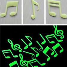 Decal Tags Music Note Stickers Glow In The Dark Bedroom Decor Home Decoration
