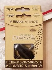 SHIMANO DEORE  V-BRAKE SHOE MT M570/600/510 18/330 AND MORE NEW 2 PAIRS