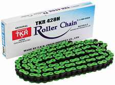 NEW HEAVY DUTY MOTORCYCLE CHAIN 428H 130 LINK GREEN COLOUR - KAWASAKI MOTORBIKE