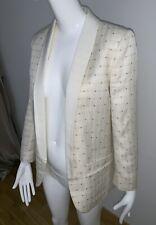 Zadig & Voltaire White Verdun Star Shine Long Blazer Jacket Brand New RRP £395