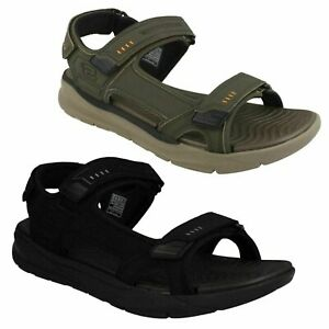 MENS SKECHERS RELAXED FIT RELONE- SENCO 66067 OPEN TOE SUMMER SANDALS SHOES