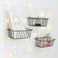 Iron Wall Hanging Basket Shelf Holder Storage Rack Decor Display Organizer 1 Pcs