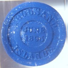 Rare 1895 H.W. Johns Hard Rubber Mica Trade Token Paperweight Asbestos Roofing
