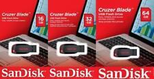 PENDRIVE USB 2.0 Sandisk 16 GB 32 GB 64 GB Chiavetta CRUZER BLADE Memoria Flash