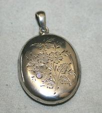 Antikes Biedermeier Silber 800 Klapp-MEDAILLON - floral ziseliert - sehr schön
