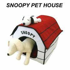 Peanuts Snoopy Indoor Pet Dog Cat House Bed Plush Portable Foldable F/S w/Track#