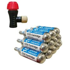 12X Bike Cycling Bicycle Co2 Threaded Cartridge Gas Tank Canister Cylinder 16G