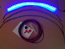 4pc BLUE CAR WHEEL WELL CUSTOM LED UNDER BODY, INTERIOR, LIGHT KIT or Golf Cart