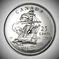 Canada 2004P First Settlement - St. Croix BU UNC From Mint Roll 25c Coin!!
