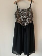 Beautiful Girls Monsoon Age 12 Sparkly Sequin Black Party Dress