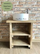 Bathroom Wash Stand Vanity Unit Hand Crafted Wooden Rustic Birch Driftwood Rose Wood Pine