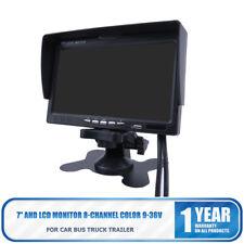 "TFT LCD 7"" inch Mini AHD CCTV Monitor PC Screen AV/VGA/HDMI Video 1024*600 12V"