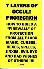 7 LAYERS OF OCCULT PROTECTION book by S. Rob occult magick evil eye