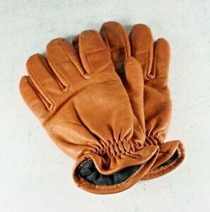 Cabela's Men's Brown Leather Gore-Tex Insulated Gloves - Size Medium