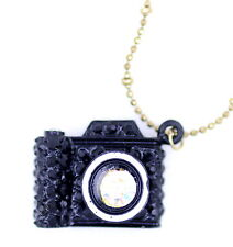 Vintage retro style black camera chain necklace
