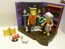 2002 THE SIMPSONS PLAYMATES TOYS MR BURNS LIVINGROOM & MORE - WORKS! -SHL6#13