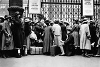 Holiday Crowd Waiting Suitcases Railroad Station Photo Art Print Poster 18x12