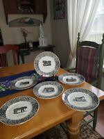 "Prinknash Abbey Pottery England Bewick's Beastes 8"" Salad/Dessert Plate"