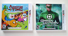 Adventure Time Hey Ice King! + Green Lantern  Nintendo 3DS  NEW   C2
