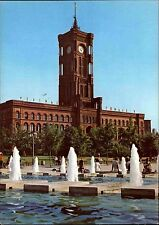 BERLIN Ost DDR Postkarte Ansichtskarte 1981 ungelaufen Rathaus Gebäude Town Hall