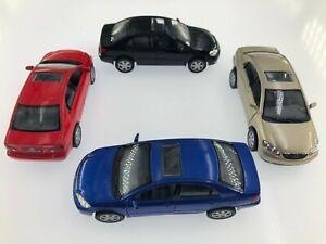 "4PC Set: 5"" Kinsmart Toyota Corolla Diecast Model Toy Car 1:36"