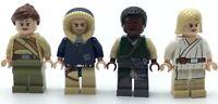 LEGO LOT OF 4 STAR WARS MINIFIGURES LUKE SKYWALKER FORCE AWAKENS JEDI FIGS