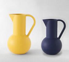 Raawii Ceramic Strom Jugs Minimalist Cubist Sculptural Jug x 2
