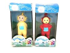 NEW 1998 Teletubbies Lot of 2, Po & Laa-Laa Rare Posable Vinyl Figure Playskool