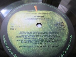 The Beatles White Album LP UK 1st STEREO Press [***NO COVER!!***] NOEMI [Vg+/Vg]