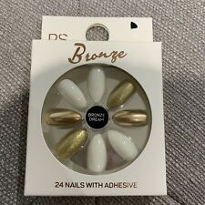 Primark 24 Bronze Queen Gold White Pointed Nails