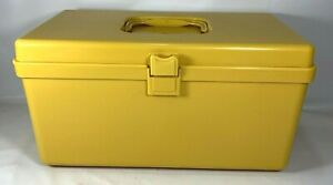 Vintage WILSON Wil-Hold Plastic Yellow Craft Sewing Box Tray Thread Storage