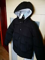 V by Very Fleece Lined Padded Reflective Hooded Coat - Black BNWT 12 years