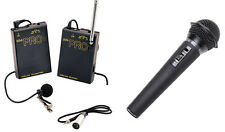Pro WLM H XLR M wireless lavalier + handheld mic for Canon XH-A1 XH-A1s XHA1 XHA