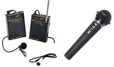 Pro WLM H XLR M wireless lavalier + handheld mic for Panasonic AG AF100A HMC150
