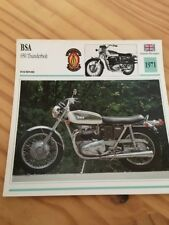 BSA 650 Thunderbolt 1971 Carte moto Collection Atlas