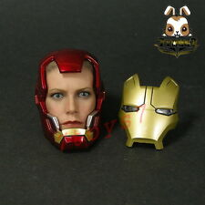 Hot Toys 1/6 Iron Man 3 Mark IX_ Pepper Potts in Mark XLII Helmet Head _HT246D