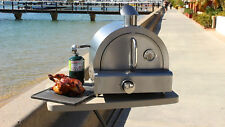 BBQ'S-R-US Grillmaster portable gas pizza oven camping BBQ bench top stainless