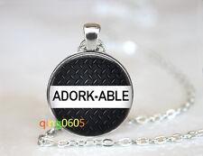 Adorkable photo Glass Cabochon Tibet silver Chain Pendant Necklace wholesale
