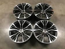 """22"""" X5 X6 599M Style Wheels Gun Metal Machined BMW F15 F16 E70 E71 X5M X6M"""
