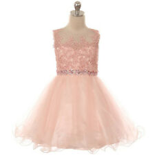 BLUSH Flower Girl Dress Formal Pageant Wedding Birthday Party Homecoming Prom