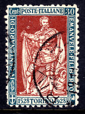 ITALY #203 30c BLUE GREEN & RED BROWN, 1928, VF, CDS
